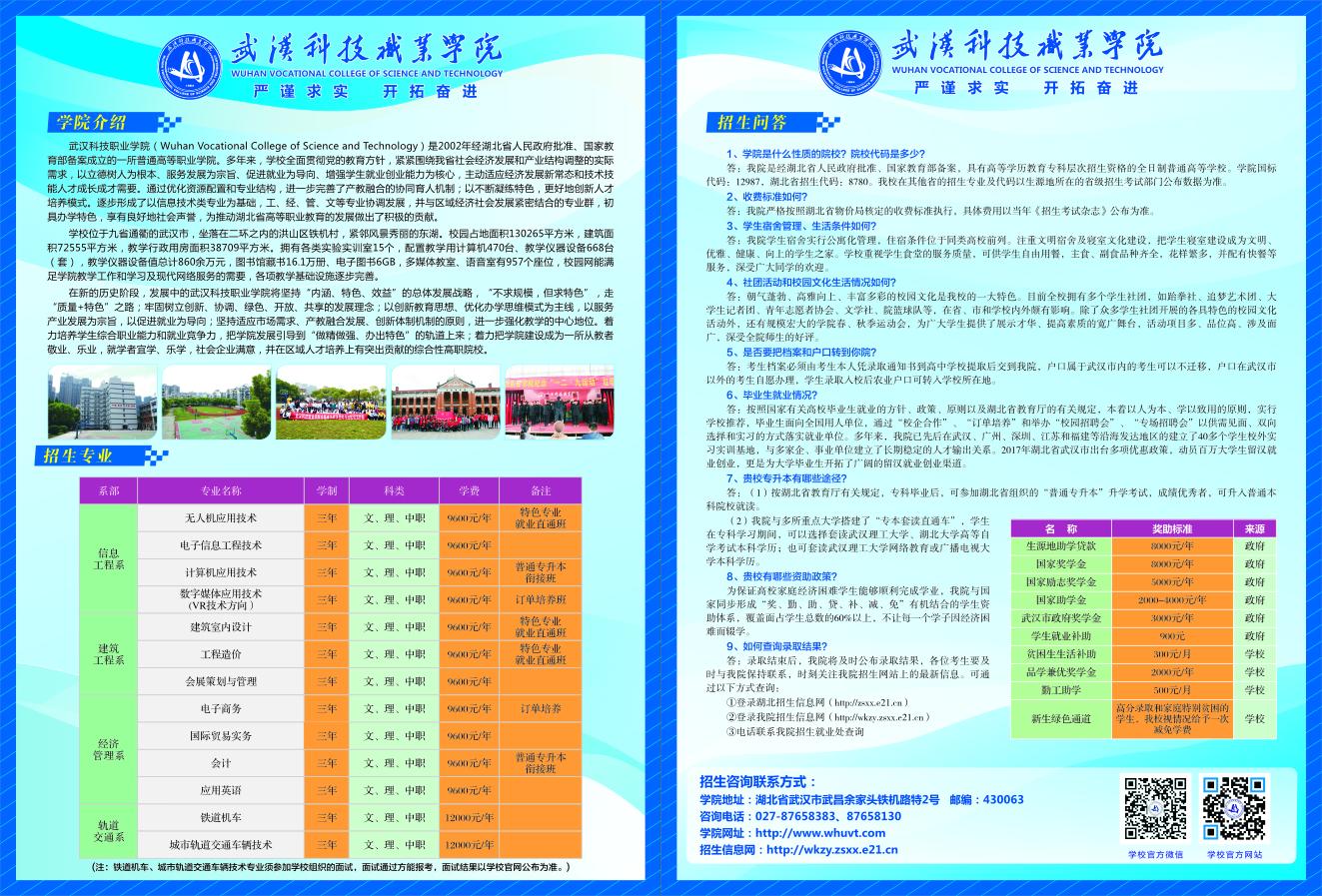 武汉武汉招生简章 画册 传单 无碳联单